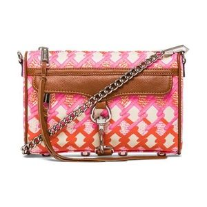 Rebecca Minkoff Mini MAC Bag pink/orange print